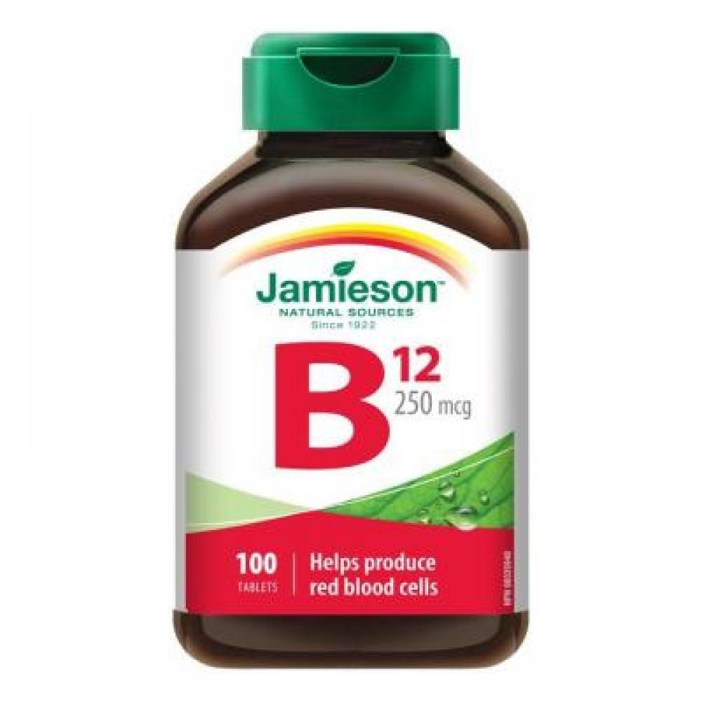 Jamieson Vitamín B12 kyanokobalamín 250 ug 100 tabliet
