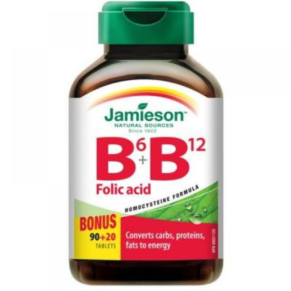 Jamieson Vitamíny B6, B12 a kyselina listová 110 tabliet