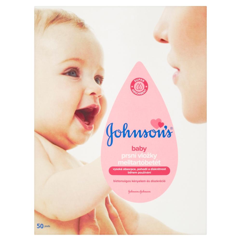 3cda6018e JOHNSON´S BABY Prsné vložky pre dojčiace matky 50 kusov - MojaLekáreň.sk