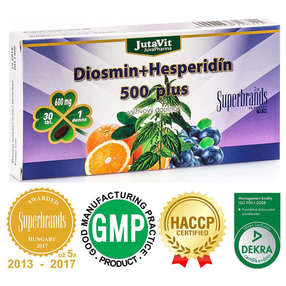 JUTAVIT Diosmín + Hesperidín 500 plus 30 tabliet