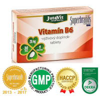 JUTAVIT Vitamín B6 - 20 mg 30 tabliet