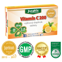 JUTAVIT Vitamín C 200 mg 30 tabliet