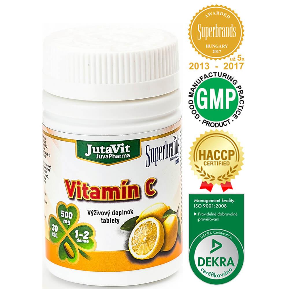 JutaVit Vitamín C 500 mg 30 tabliet
