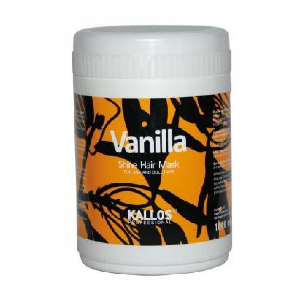 Kallos Vanilla Shine Hair Mask 1000ml (Maska pre oživenie suchých vlasov)