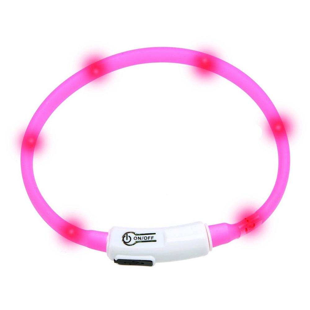 KARLIE FLAMINGO Obojok USB Visio Light 35 cm ružový