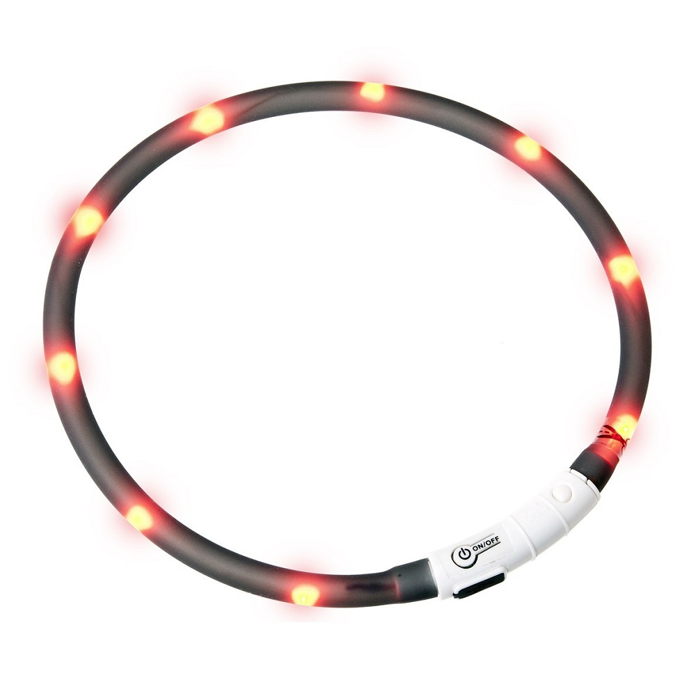 KARLIE FLAMINGO Obojok USB Visio Light 70 cm čierny