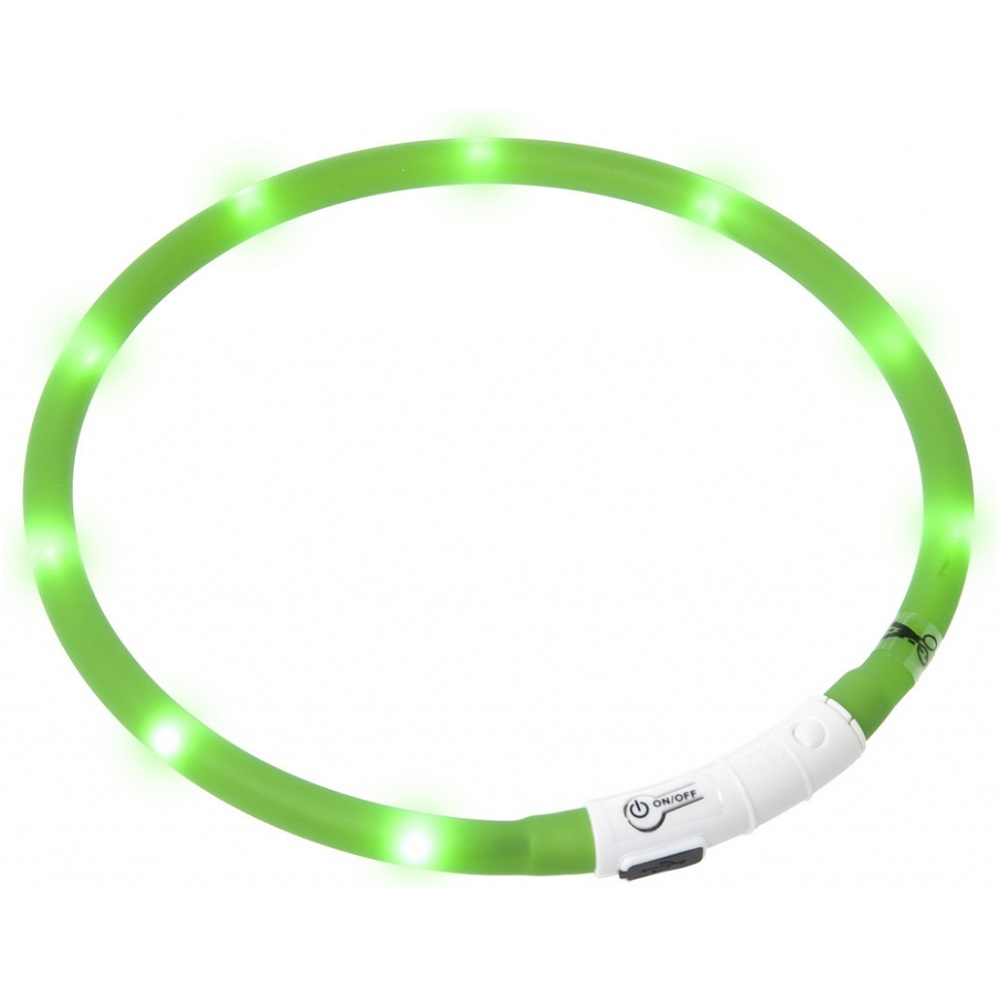 KARLIE FLAMINGO Obojok USB Visio Light 70 cm zelený