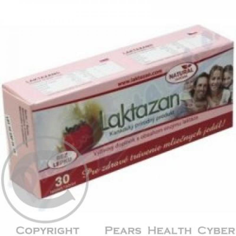 Gelda Laktazan enzym laktáza s příchutí jahody 30 tbl.