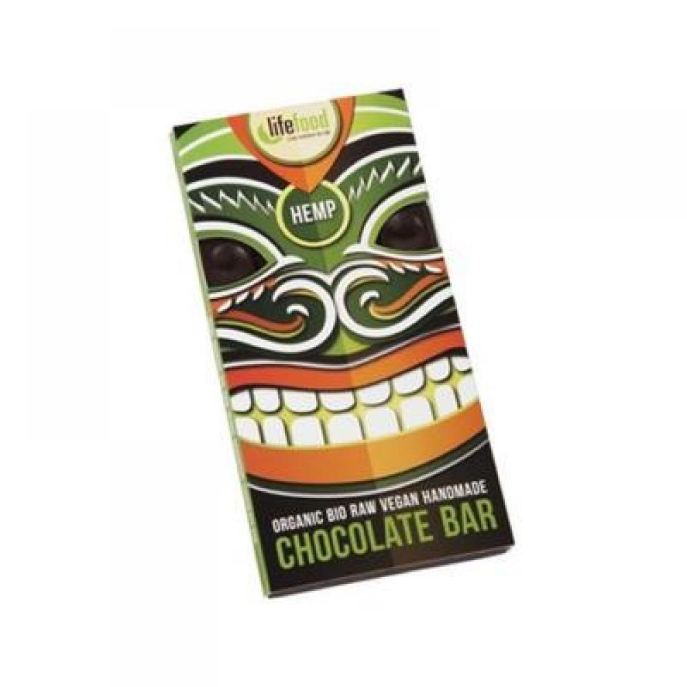 Lifefood čokoláda s konopným semienkom BIO 70 g