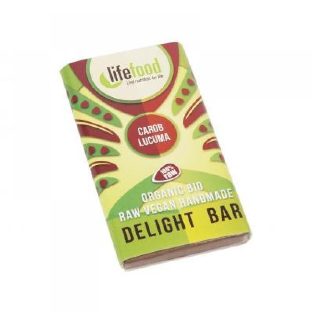 Lifefood karobová mini čokoládka s lucumou BIO 15 g