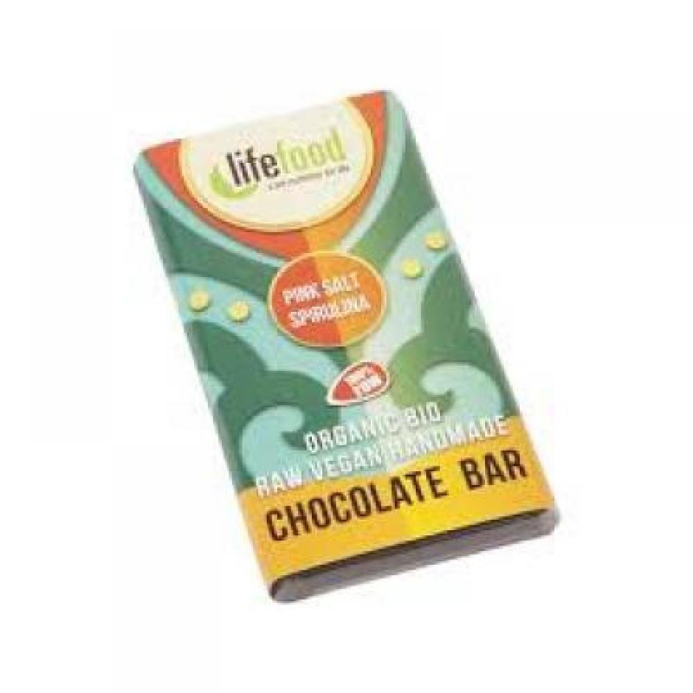 Lifefood Slaná mini čokoládka sa spirulinou BIO 15 g