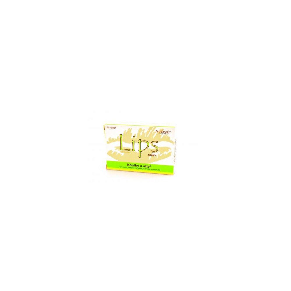 Pharmacy laboratories LIPS tablety koutky a afty 30 tbl.