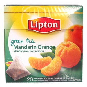 LIPTON pyramíd Green Mandarine Orange 20 x 1.8g 36g