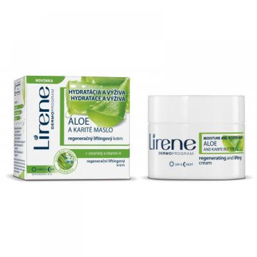 Lirene Hydratace a výživa Aloe a Karité máslo regenerační liftingový denní i noční krém 50 ml