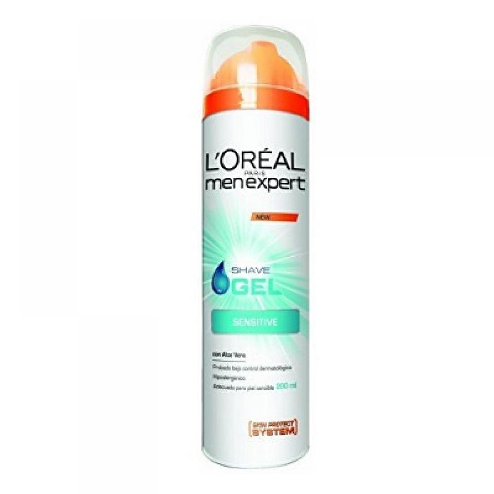 L'ORÉAL Men Expert Sensitive gél na holenie 200 ml