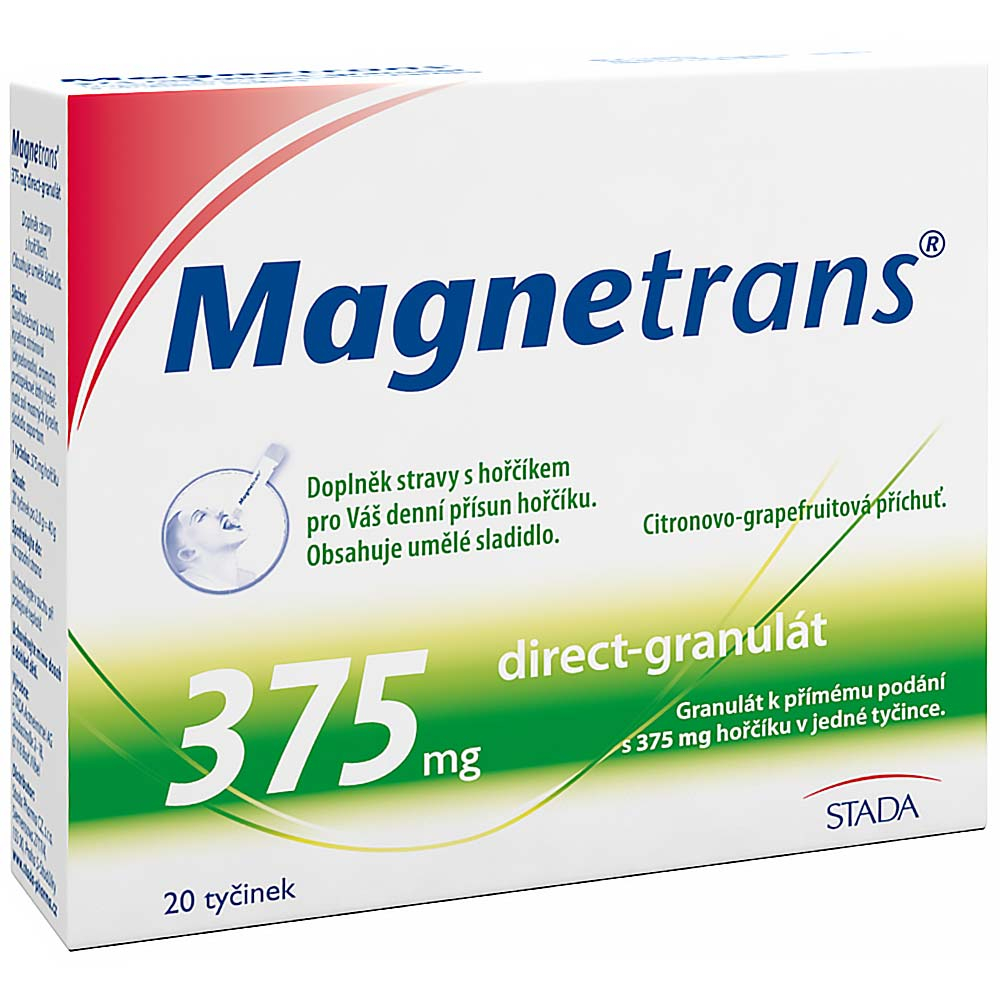 STADA PHARMA CZ MAGNETRANS 375mg 20 tyčinek granulátu
