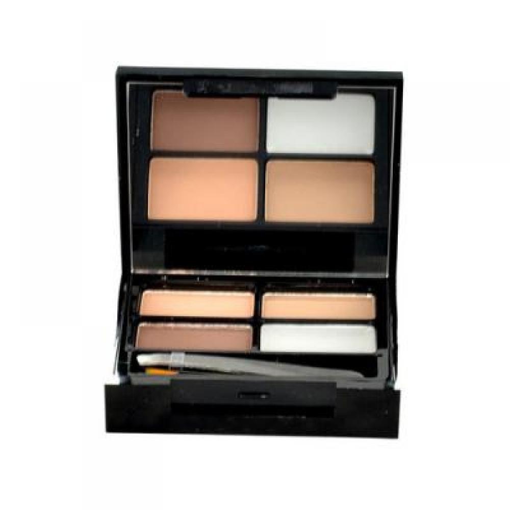 Makeup Revolution London Focus & Fix Eyebrow Shaping Kit 5,8g Set pre úpravu obočia Medium Dark