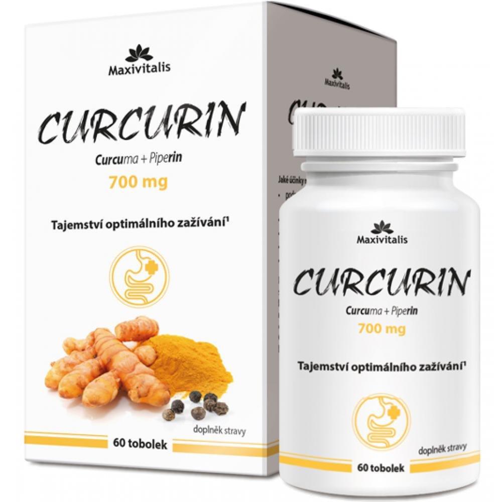 MAXIVITALIS Curcurin curcuma + piperín 700 mg 60 kapsúl