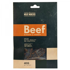 MEAT MAKERS Beef Jerky Ginger & Honey 40 g
