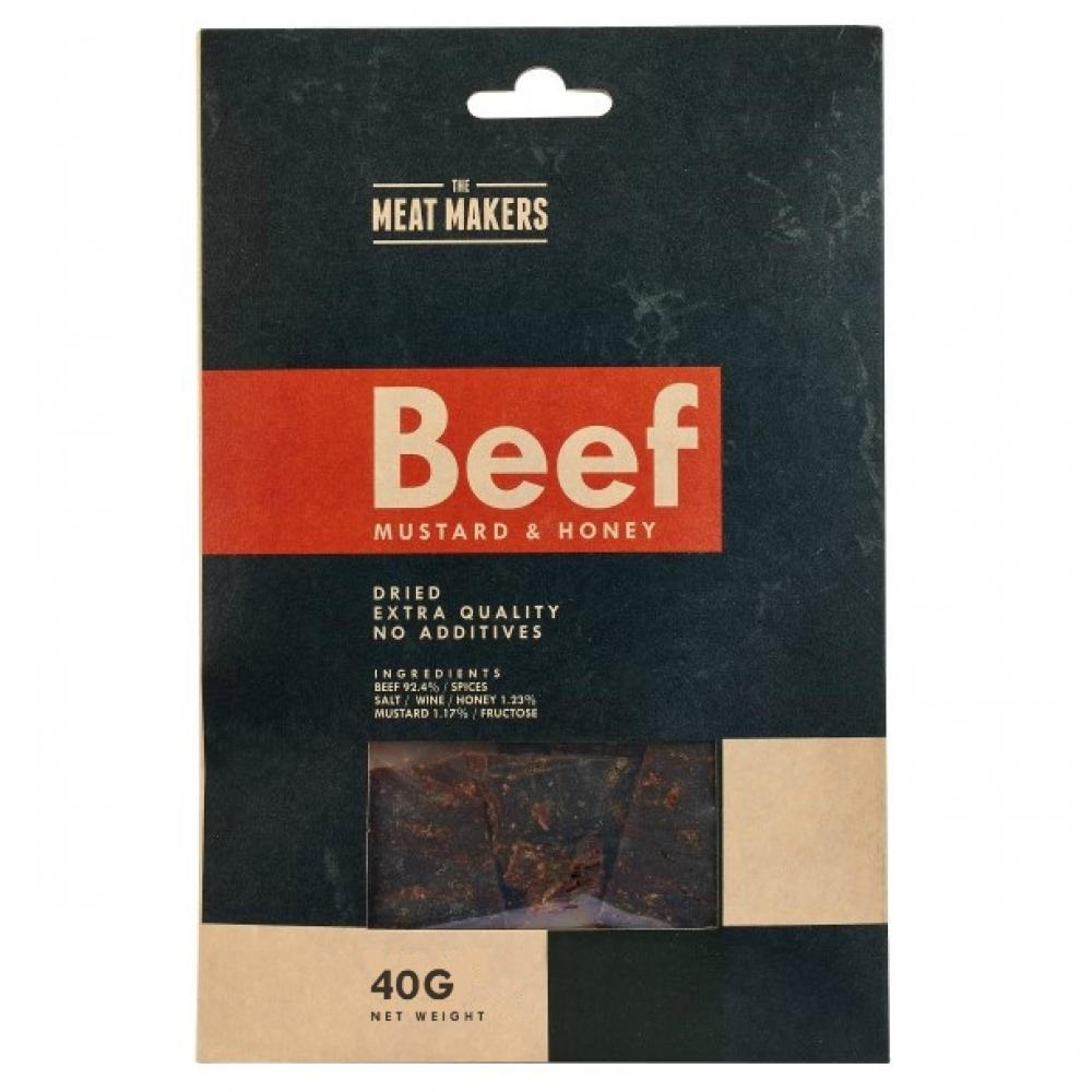 MEAT MAKERS Beef Jerky Mustard & Honey 40 g