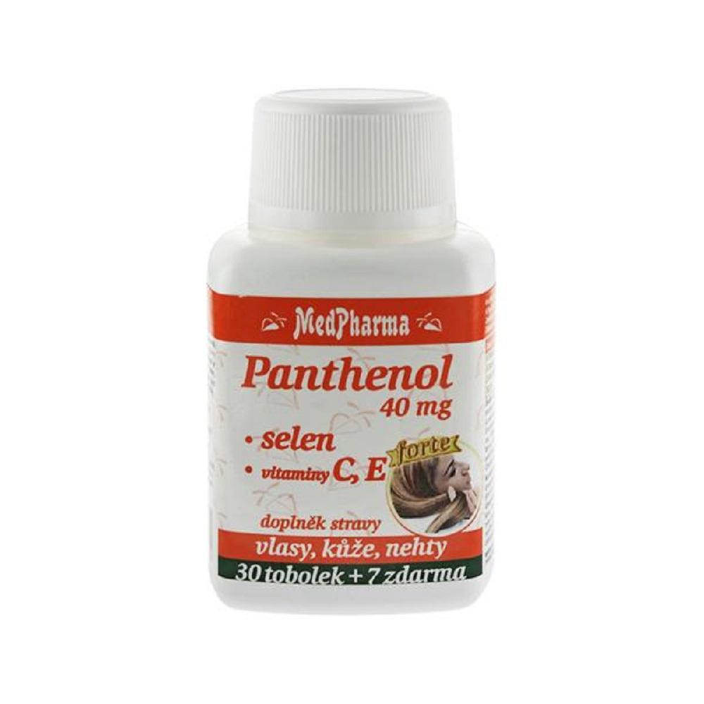 MEDPHARMA Panthenol 40 mg + selén + vitamíny C, E, 37 tobolek
