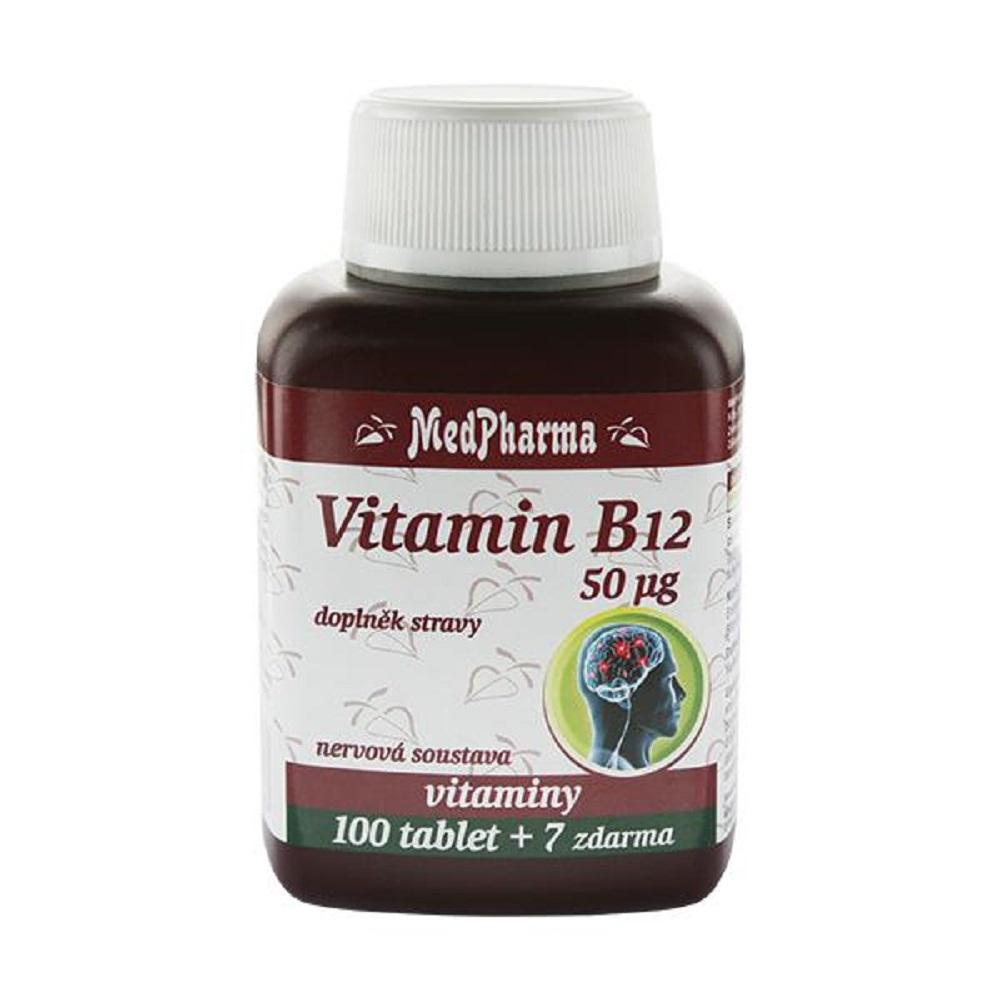 MEDPHARMA Vitamin B12 (kyanokobalamin) 50 µg 107 tabliet