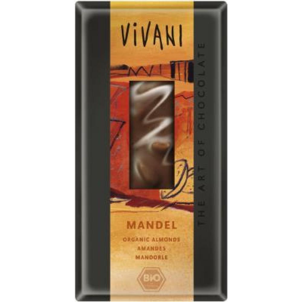 VIVANI bio čokoláda mliečna s mandľami 100 g