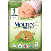 MOLTEX Nature No.1 Newborn 2-4 kg  23 ks