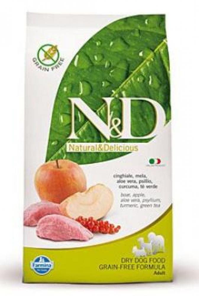 N & D DOG krmivo pre psov divoké prasa a jablká 800g