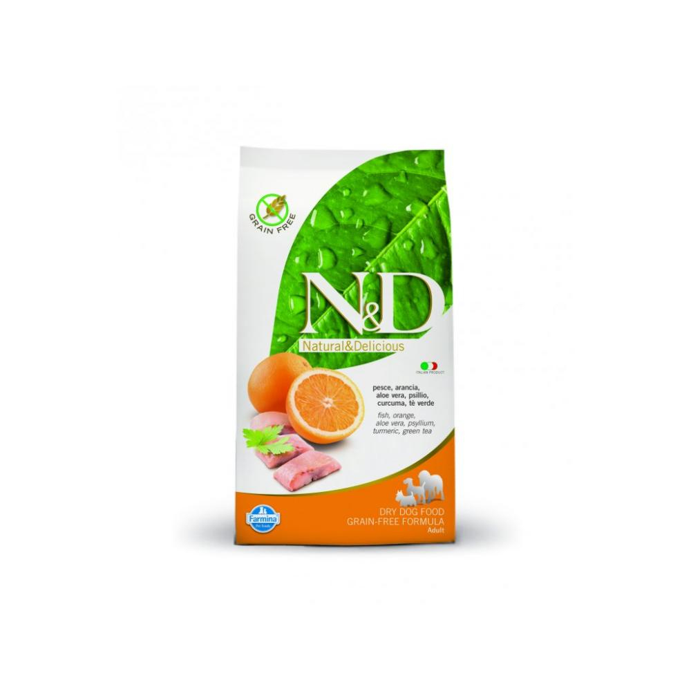 N & D DOG Adult Fish & Orange 800g