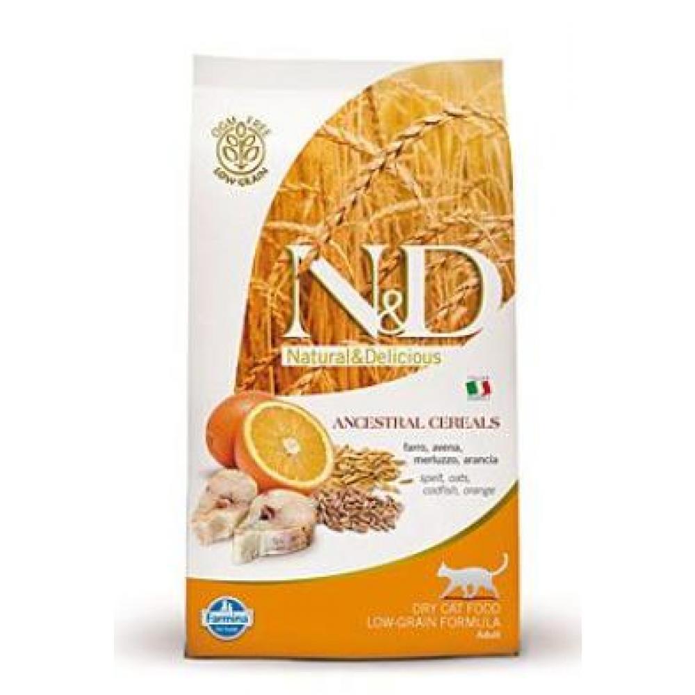 N & D Low Grain CAT Adult Codfish & Orange 300g