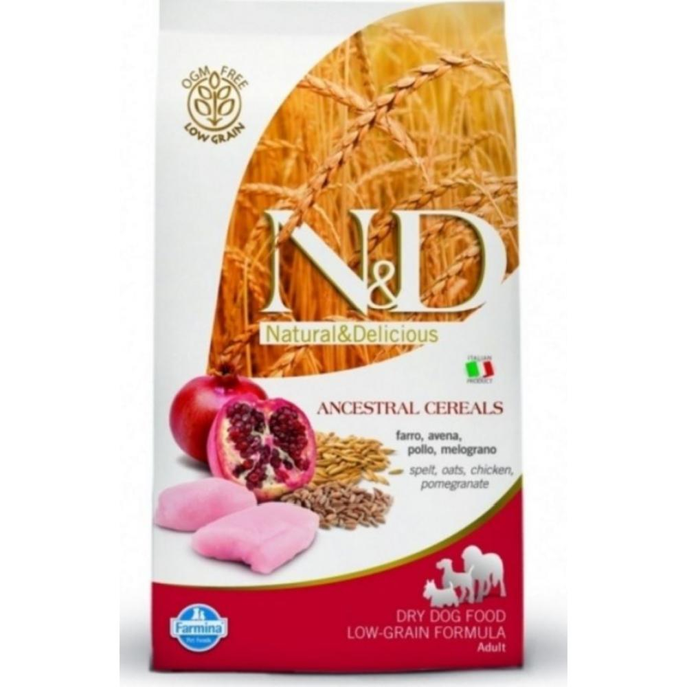 N & D Low Grain DOG Adult Mini Chicken & Pomegr 800g