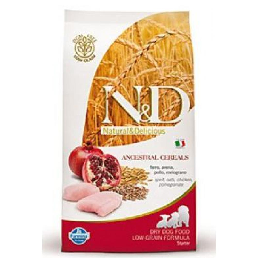N & D Low Grain DOG Puppy Starter Chicken & Pomegr 800g