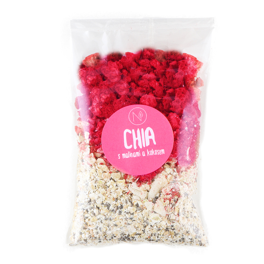 NATU Superkaša CHIA s malinami a kokosom 70 g