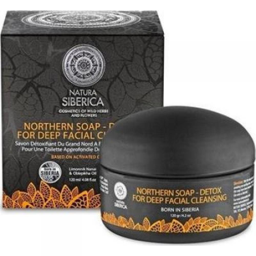 NATURA siberica Severnej mydlo Detox pre hlboké čistenie tváre 100 ml