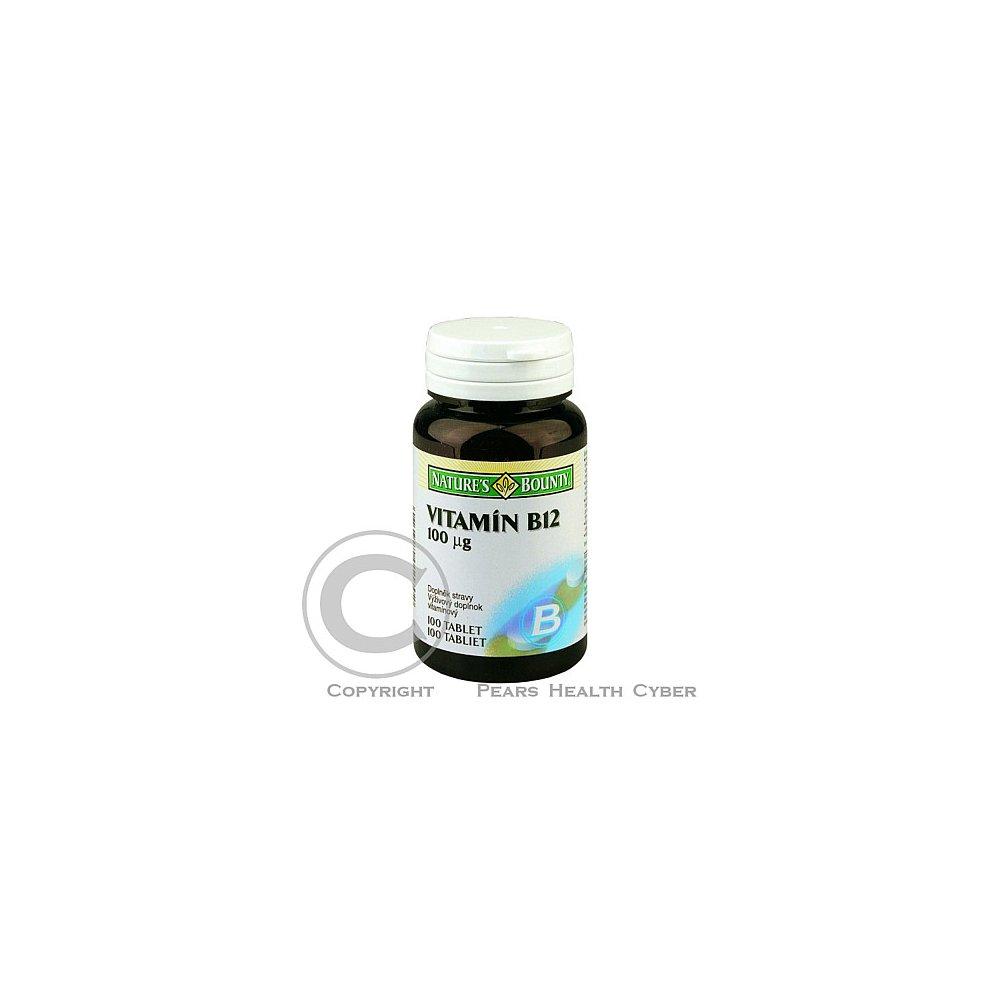 Nature´s Bounty Vitamín B12 100 mcg 100 tabliet