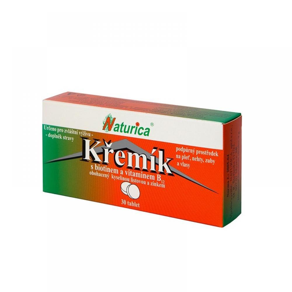 NATURICA Kremík s biotínom a vitamínom B12 - 30 tabliet