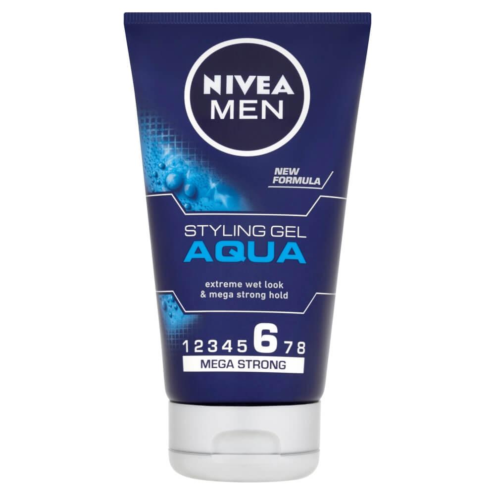 NIVEA MEN Styling Gel Aqua gél na vlasy s mokrým efektom 150 ml