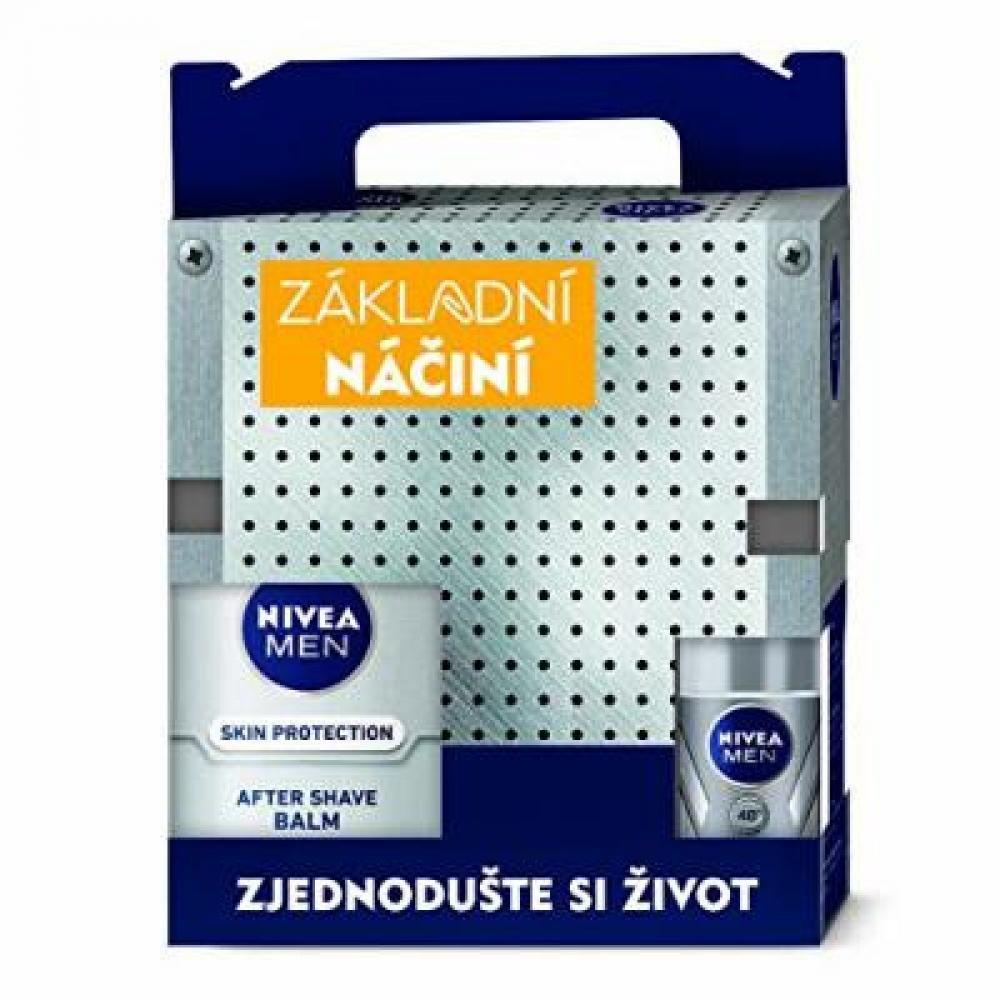 NIVEA MEN Tool Box Silver - gél 200 ml + balzam 100 ml + roll-on 50 ml + krém 150 ml