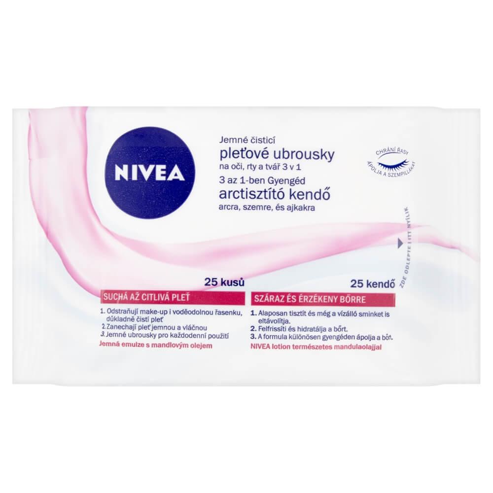 NIVEA Visage čistící pleťové ubrousky S/C pleť 25 kusů