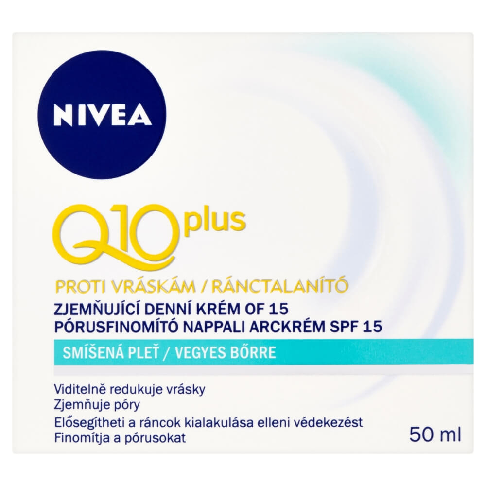 Nivea Q10 Plus Softening Day Cream 50ml (Smíšená pleť)