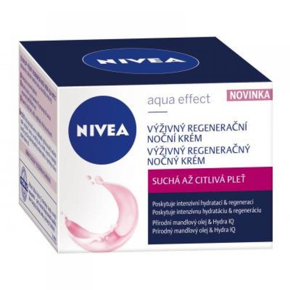 NIVEA Výživný regeneračný nočný krém pre suchú a citlivú pleť 50 ml