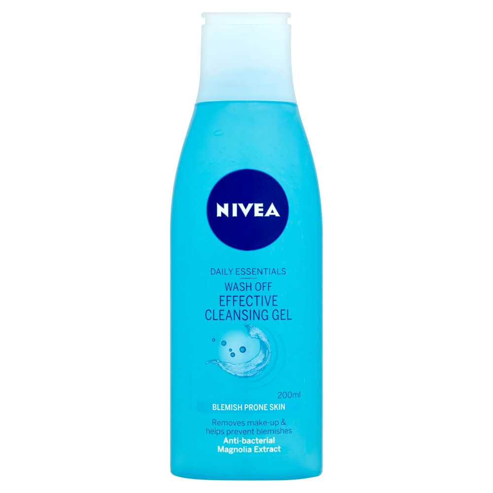 NIVEA Pure Effect Jemný čistiaci gél Wash Off 200 ml