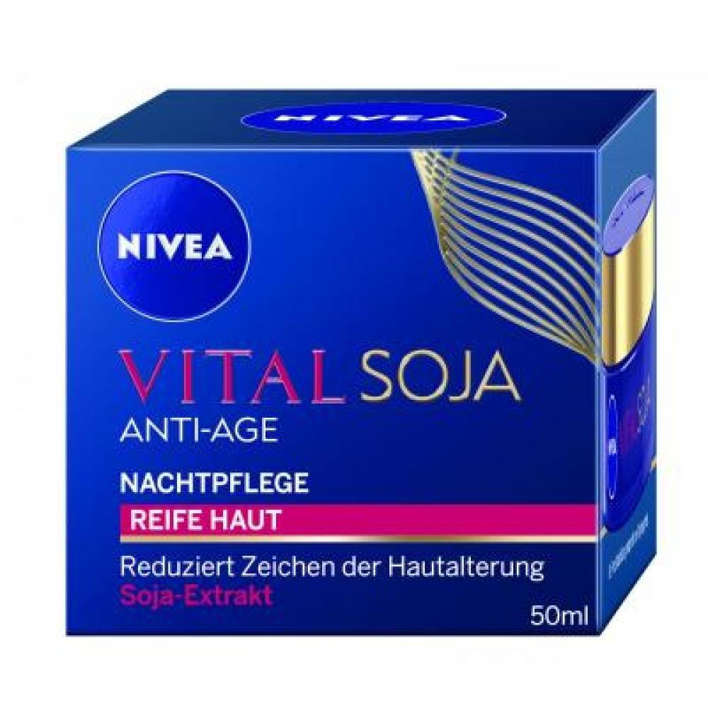 NIVEA VITAL Nočný krém proti vráskam Multi Active Sója 50 ml