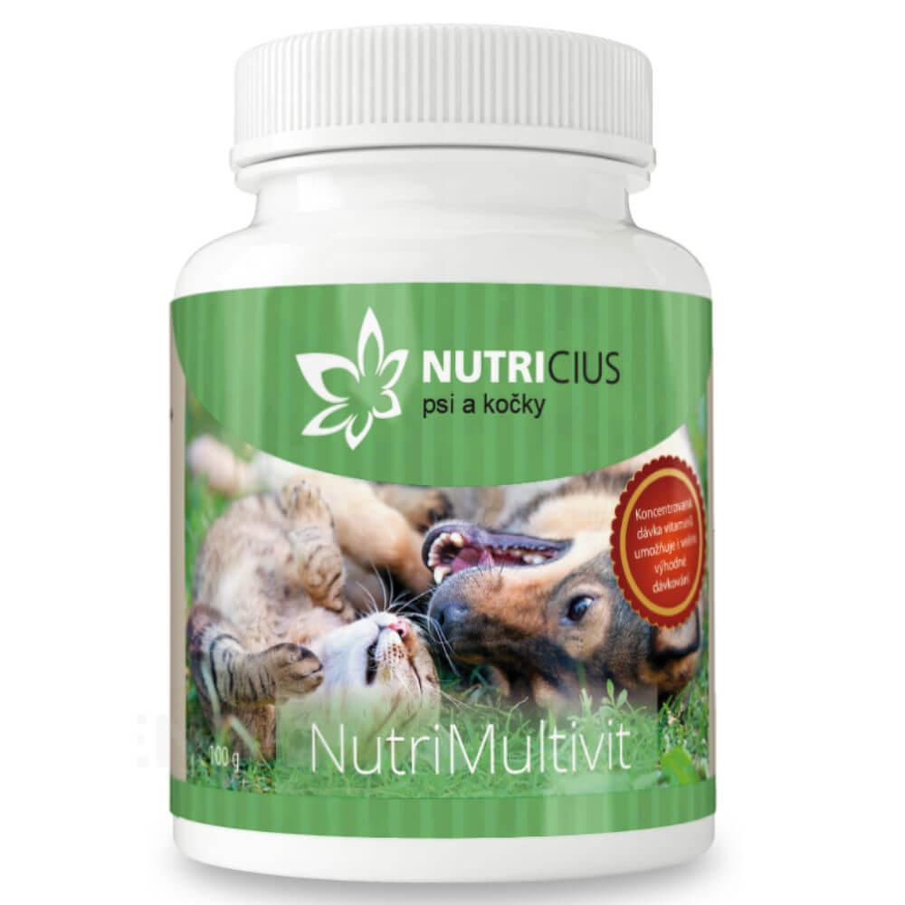 NUTRICIUS NutriMultivit sypký multivitamín pre psov a mačky 100 g