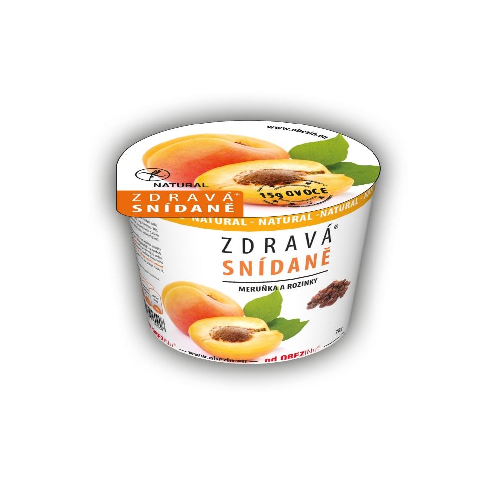 OBEZIN Zdravé raňajky Marhuľa a hrozienka 78 g