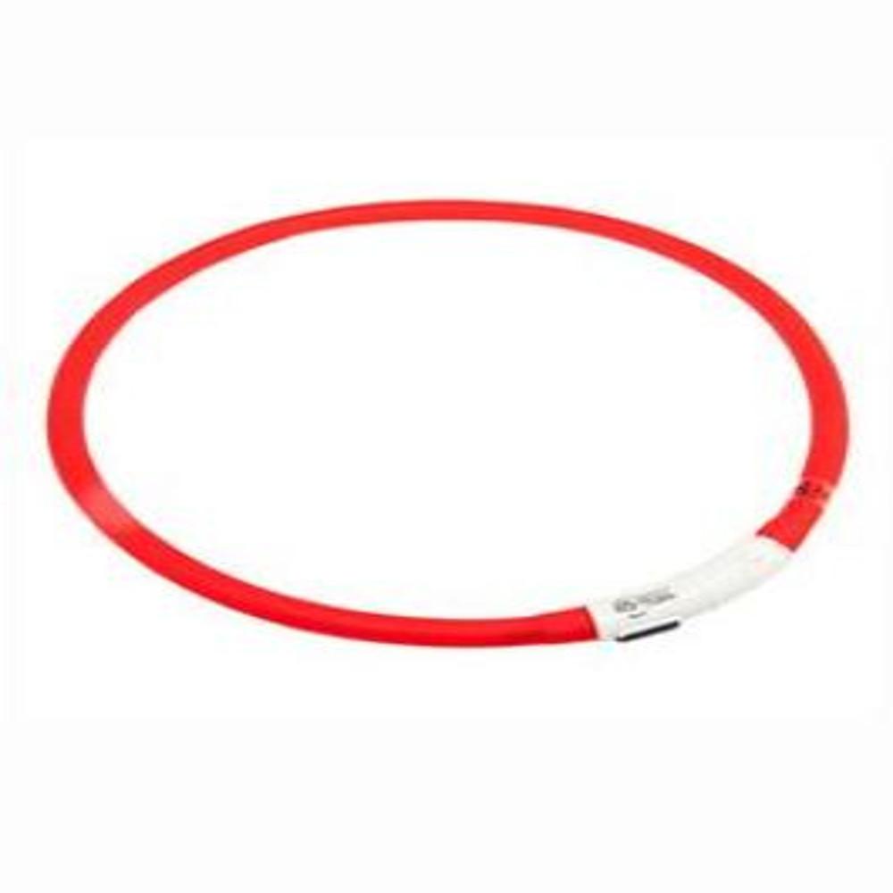 KARLIE FLAMINGO Obojok USB Visio Light 70 cm červený