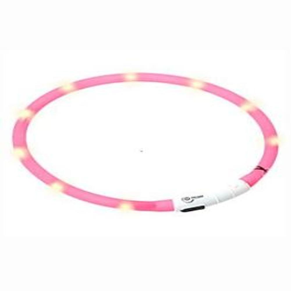 KARLIE FLAMINGO Obojok USB Visio Light 70 cm ružový