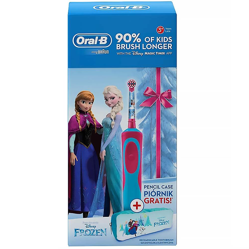 c85ad9378 ORAL-B Vitality Frozen elektrická detská kefka + peračník. Akcia