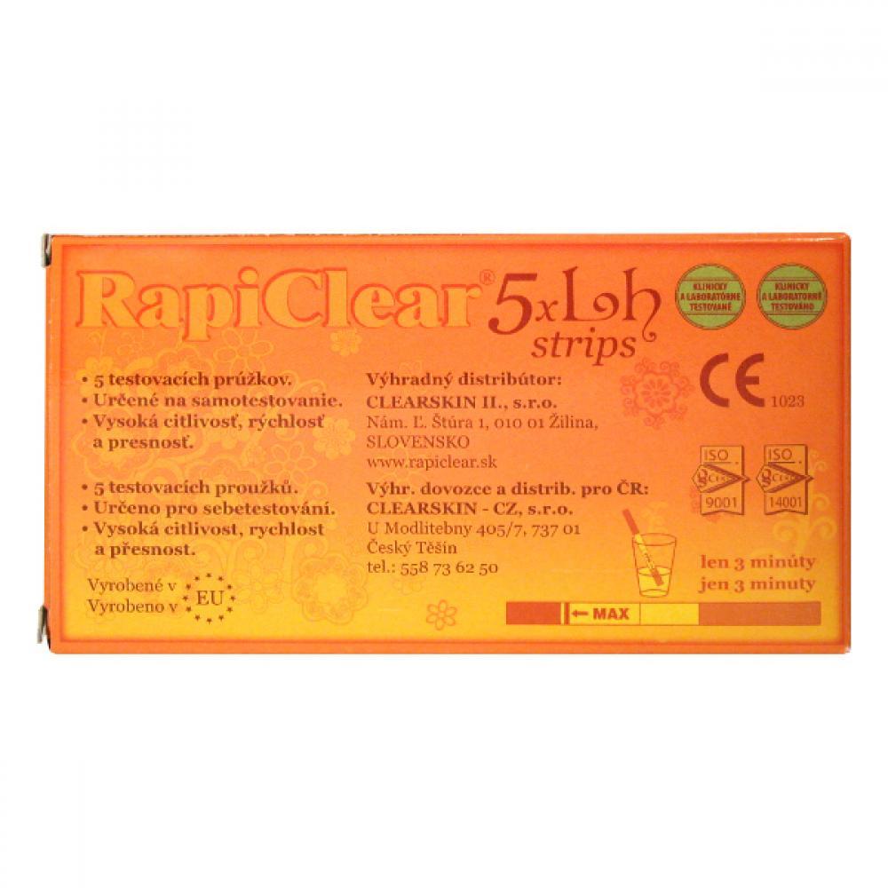 Ovulačný test RapiClear 5x LH strips